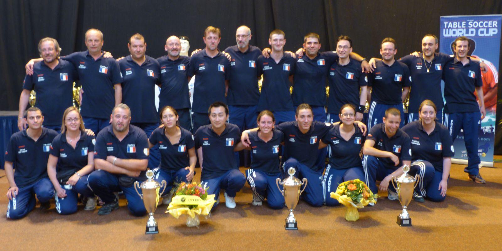 Equipes de france 2011 f d ration fran aise de football - Federation francaise de football de table ...