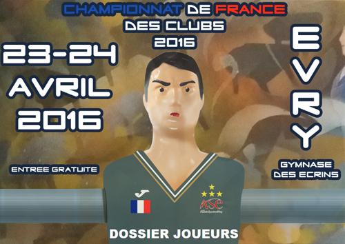 Championnats de france des clubs 2016 f d ration - Federation francaise de football de table ...
